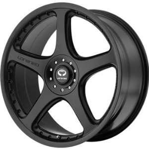 Lorenzo WL028 18x8 Black Wheel / Rim 5x4.5 & 5x120 with a 32mm Offset