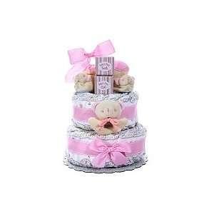 BABY GIRLS 2 TIER DIAPER CAKE   BABY SHOWER GIFT Baby
