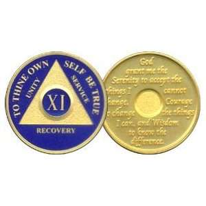11 Year 24K Gold Plated AA Birthday   Anniversary Recovery