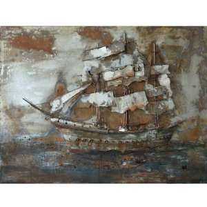 Yosemite Home Decor PAP110314 Castaway Ship 1 Painted Wall