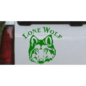 Lone Wolf Head Biker Car Window Wall Laptop Decal Sticker