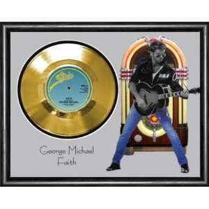 George Michael Faith Framed Gold Record A3 Musical