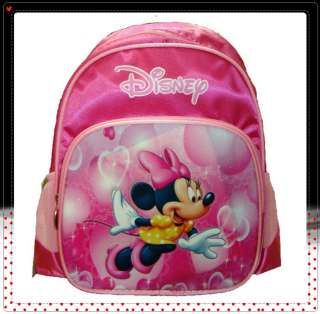 MINNIE Mouse Pink Backpack Child School Bag #168