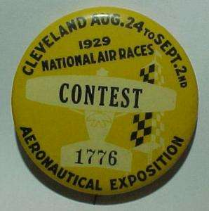 1929 *Cleveland National Air Races* Numbered Badge