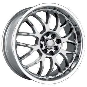 18x7.5 Akita AK 6 (460) (Hyper Silver w/ Machined Lip) Wheels/Rims