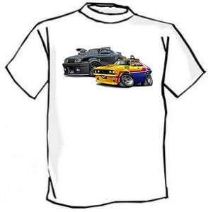 Mad Max Interceptor and MFP Police Car Tshirt NEW