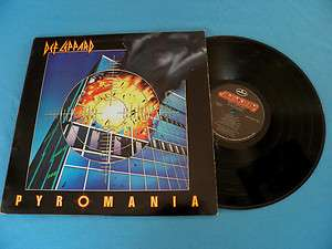 Def Leppard Pyromania RARE Original USA Mercury 1983 LP Heavy Rock