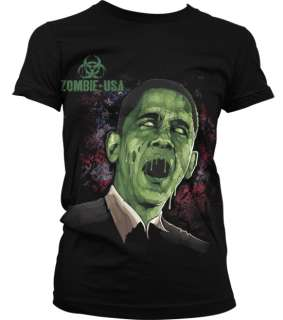 Zombie USA Obama   Zombie Apocalypse Horror Bio Hazard Dark Girl