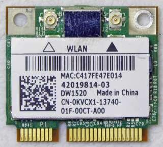 OEM DELL INSPIRON 1564 1558 1764 PCI HALF WIFI WIRELESS KVCX1 0KVCX1