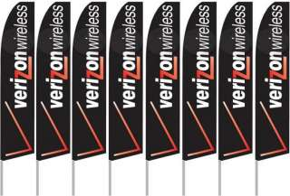 EIGHT(8) HUGE VERIZON FEATHER FLAG BANNER SIGN KITS