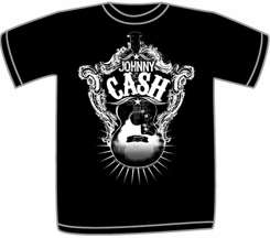 Johnny Cash Guitar Shield Toddler Shirt All Sizes New