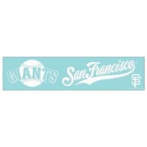 San Francisco Giants Die cut decal 4x17