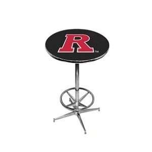 Rutgers Scarlett Knights Pub Table w/ Foot Ring Base