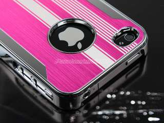 Deluxe Steel Chrome Hard Case Cover For iPhone AT&T Verizon Sprint 4S