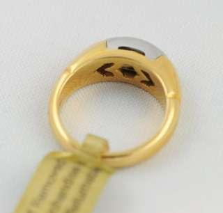 Bulgari Bvlgari 18k Yellow Gold Steel Ring