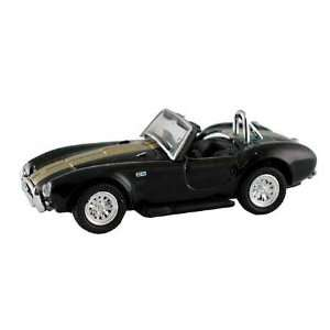 HO Die Cast 1965 Shelby Cobra,Black w/Gold Stripes: Toys