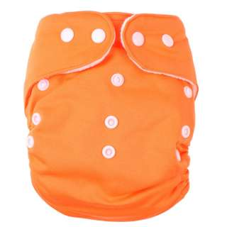 BABY POCKET CLOTH NAPPY DIAPER ONE SIZE FITS ALL + INSERT SOLID COLOR