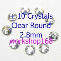 1800 Nail Art Rhinestones Round 1.5 + 10 Crystals 140K+