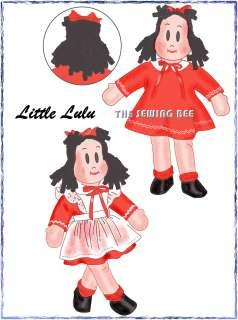 1447 Little Lulu RAG DOLL & Wardrobe Pattern