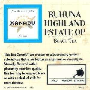 Xanadu Ruhuna Highland Estate OP Loose Leaf Tea   Ceylon: