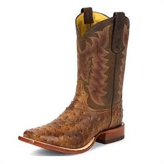 Mens TONY LAMA 11 Boots Chocolate Ostrich Skin E9452