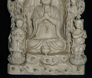 13 Old Chinese white porcelain Kuan Yin QuanYin Statue