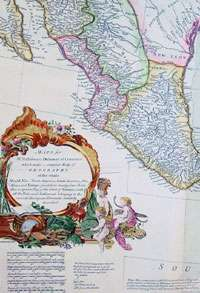 1766 Bolton D Anville Large Antique Map North America