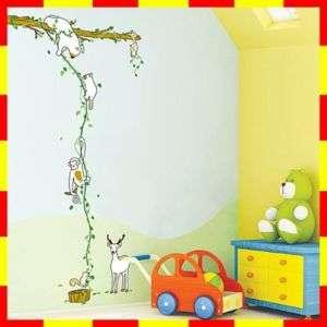PS58189 JUNGLE Wall Art Kids Deco Decor Mural Sticker