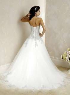 Sweetheart Bridal Wedding Gown Custom Tulle Wedding Dress Appliqued A