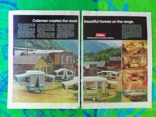 ADVERTISEMENT CAMPING 1970s COLEMAN POP UP CAMP TRAILERS OUTDOORS