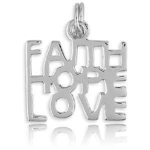 Silver Faith, Hope, Love Charm Z 8602 Itâ?TMs Charming Jewelry