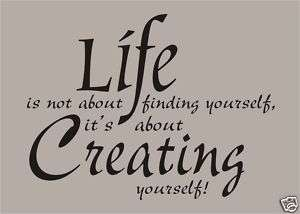 CREATE YOURSELF Custom Wall Quote Words Verses Decals