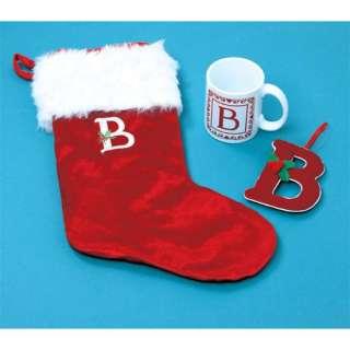 Pc Christmas Monogram Gift Sets Stocking Mug Ornament