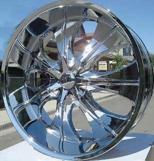 Wheel + Tire Packages 20 inch Triple chrome rims V725