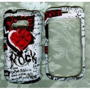 Rock heart LG 900g straight talk phone cover case Cell