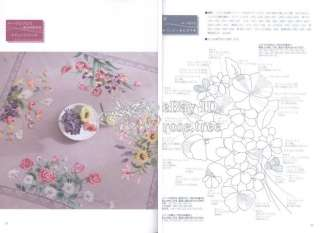 Totsuka Embroidery 134 Japanese Floral Needlework Table Cloth Pattern