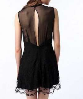 NWT $98 Nom De Plume YaYa Black Lace Evening Dress sz 8