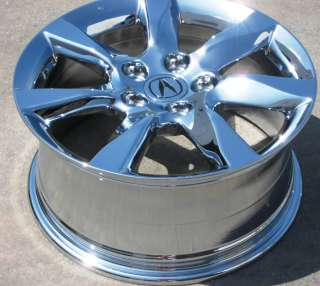NEW 17 FACTORY ACURA TL PILOT RL CHROME WHEELS RIMS 2012 SET OF 4