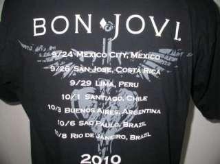 Rare Bon Jovi South American Tour Only 2010 T Shirt Large