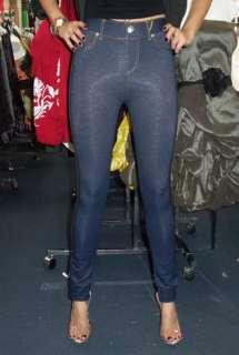 New Sexy Pajama Jeans   Knit Denim Look High Quality Stretch Jeggings