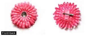 Crystal White Dots Gerber Daisy Flower Hair clip