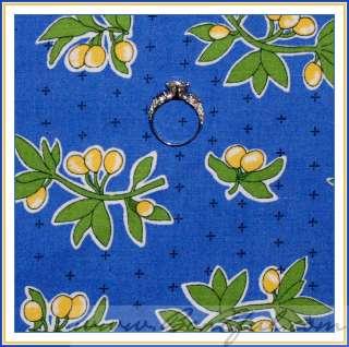 BOOAK Fabric VTG Feedsack FRUIT* Leaf Retro Lemon Apron Blue Dot OOP