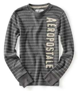 mens striped thermal shirt sweatshirt   Style # 2066