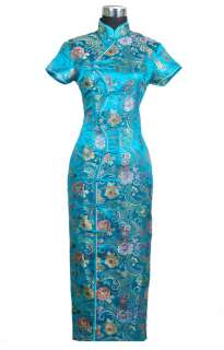 Black chinese style womens dress s m l xl xxl 3xl