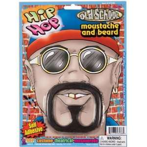 Hip Hop Rapper Mustache Costume Goatee Beard Moustache Toys & Games