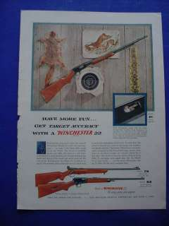 1955 Winchester Model 61 75 63 .22 Caliber Rifles Ad