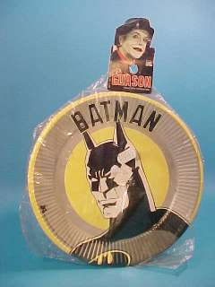 BATMAN 1989 PARTY SAUCERS JOKER CARD ARGENTINA BAGGED