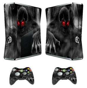 Red Eyes Skull STICKER XBOX 360 Slim Skin CONTROLLERS CASE COVE COOL