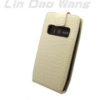 GENUINE LEATHER CASE POUCH + FILM FOR NOKIA X7 X7 00