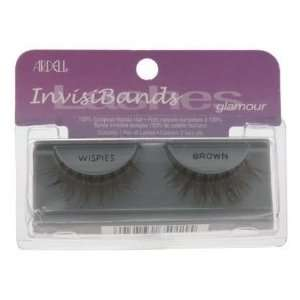 Invisibands Lashes 100% Human Hair BROWN (Item Wispies) Beauty